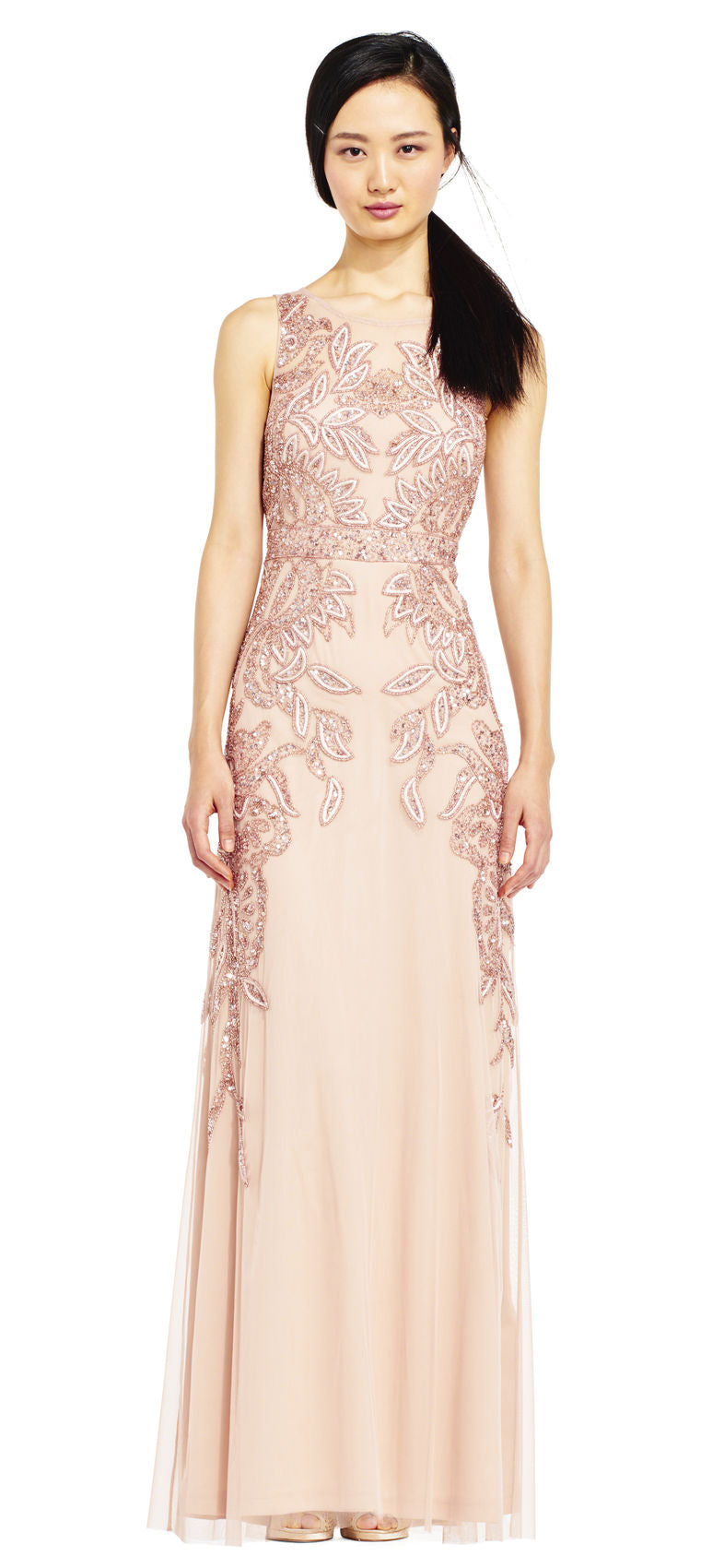 Rose Gold Beaded Dress