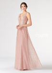Rose Gold Sparkly Cracked Tulle Dress