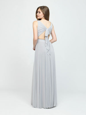 Platinum Tank Ruched Tie Back Dress