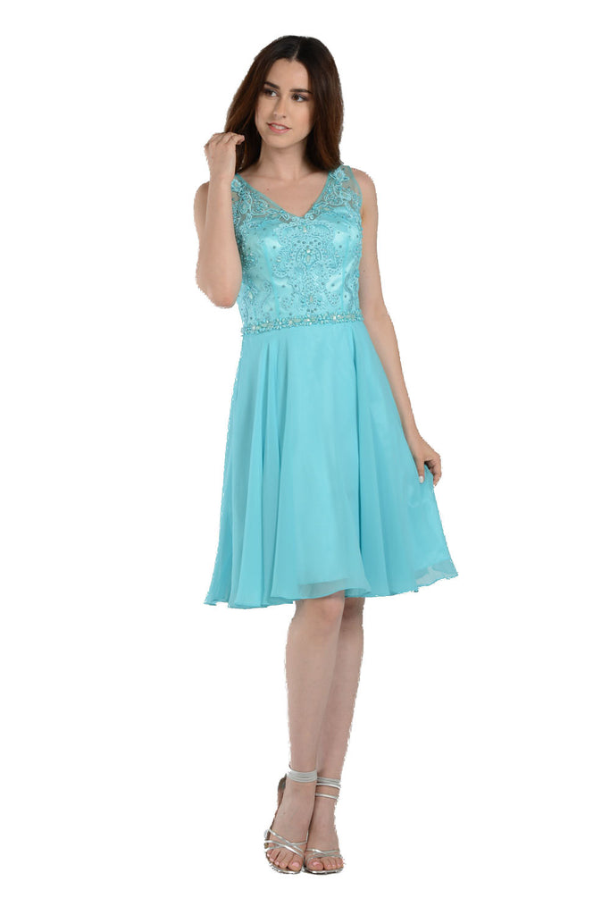 Beaded and Flowy Short Dress - Size S, M
