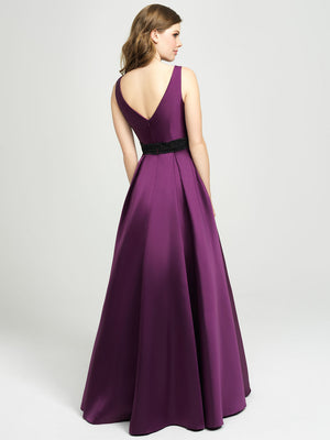 Purple Mikado Ballgown