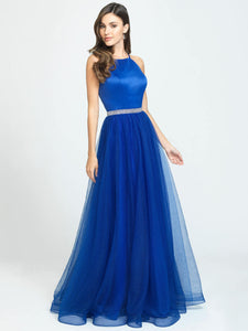 Royal Halter Sparkle Belt Dress