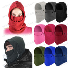 Laden Sie das Bild in den Galerie-Viewer, Thermo Fleece Schal mit Hoodie
