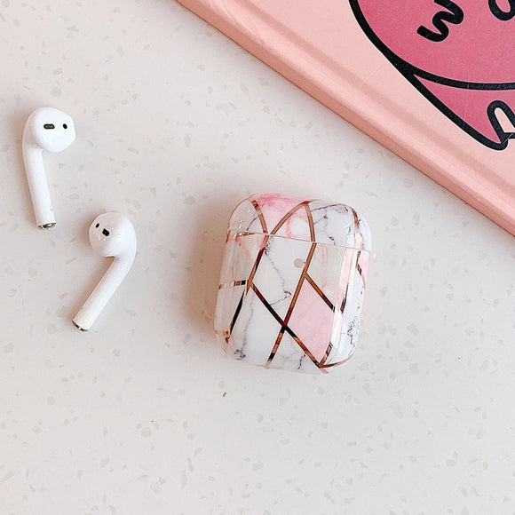 Pink and Grey Marble AIRPOD PRO