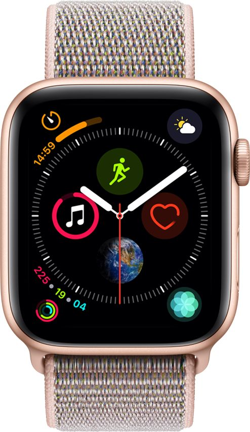 Apple Watch Series 4 - 44mm Gold Aluminum Case with Pink Sand Sport Loop, GPS, watchOS 5