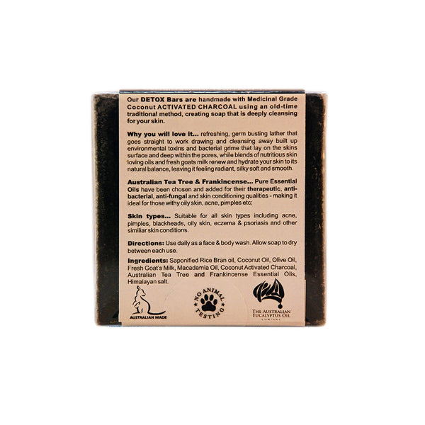Detox Purifying Bar – Tea Tree and Frankincense 110g (3.9 oz)