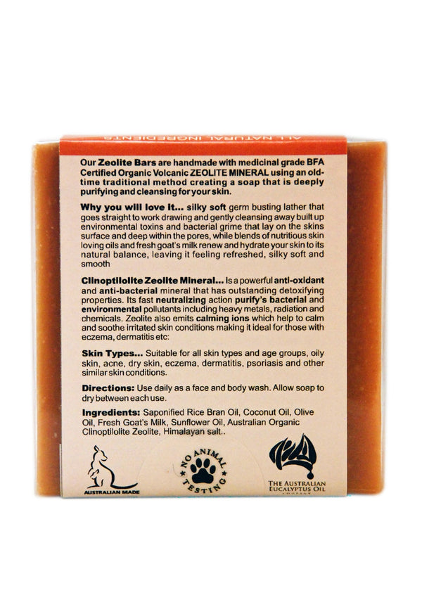 Zeolite Purifying Bar – Unscented 110 gr (3.9 oz)
