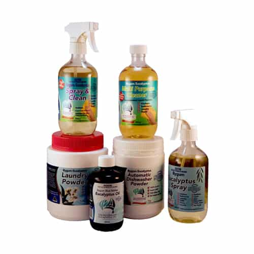 Eucalyptus Oil Bundle: Eucalyptus Oil, Spray, Cleaner, Laundry Powder & Dishwasher Powder