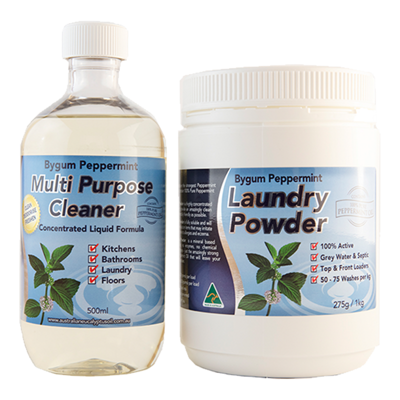 Peppermint Multi Purpose Cleaner & Peppermint Laundry Powder Bundle