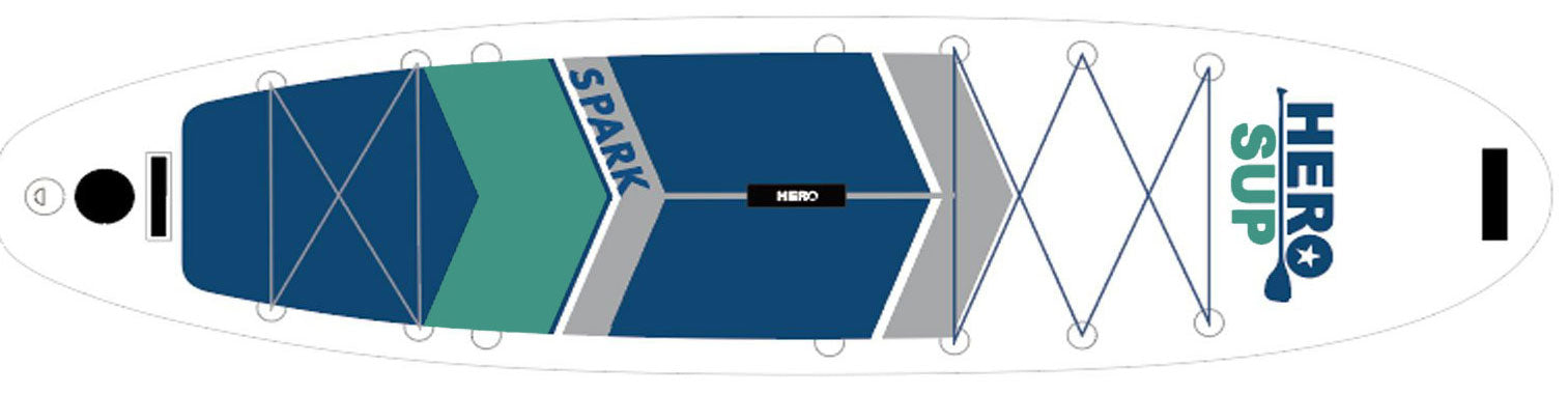 Hero SUP Spark inflatable stand up paddle board 2021