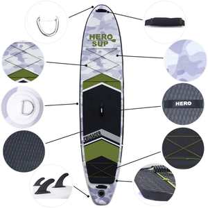 "Hero SUP Crusader 11'2"" All-Around Inflatable Stand-Up Paddle Board"