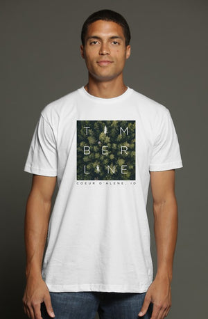 squared trees triblend t shirt