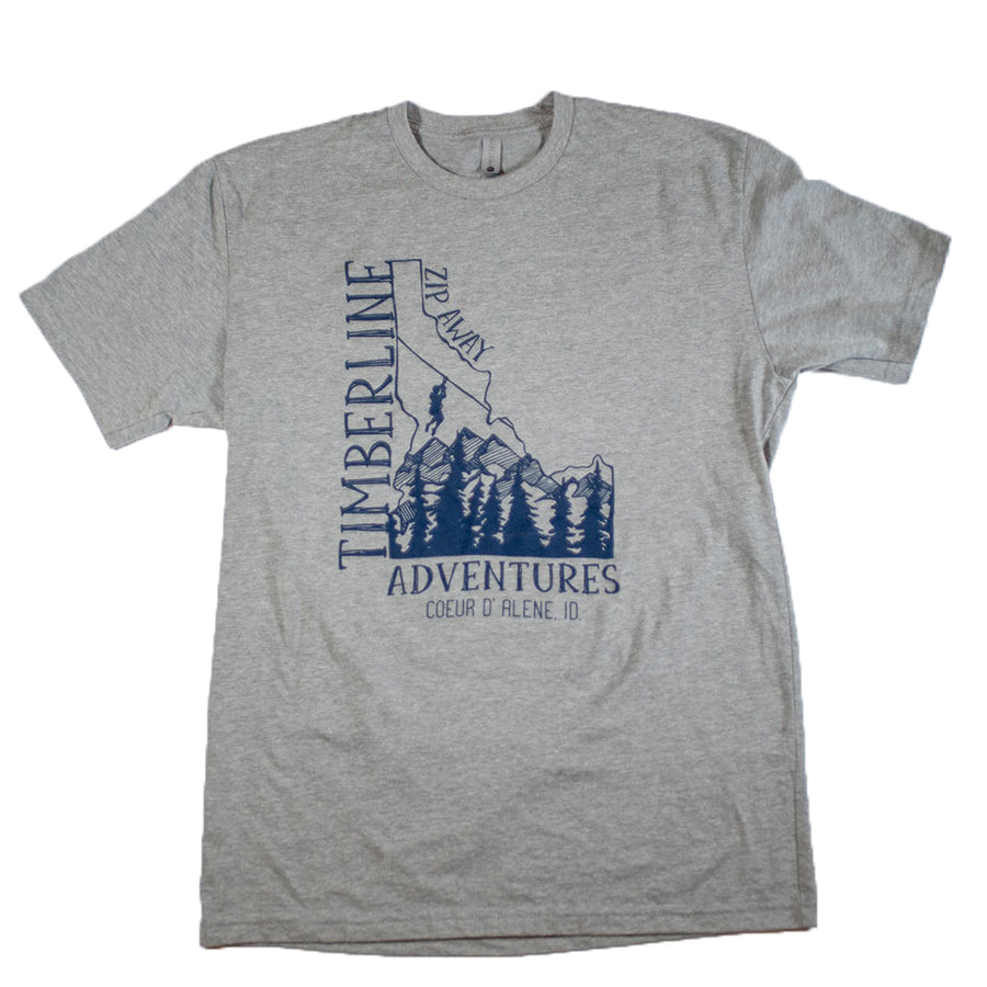 Gem State Rep T-Shirt - Gray/Blue