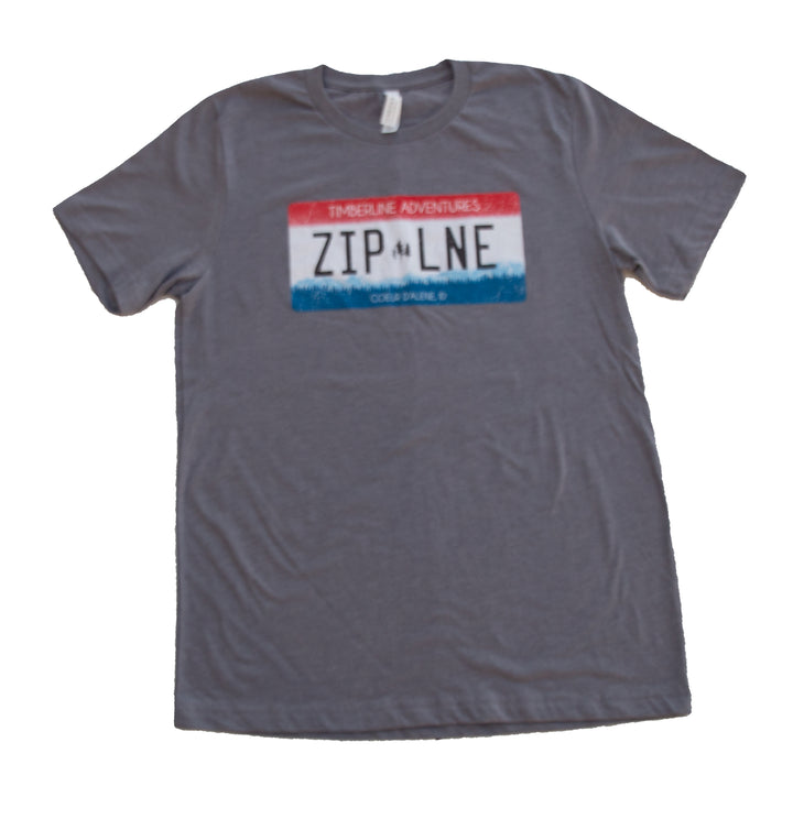 License to Zip T-Shirt - Charcoal