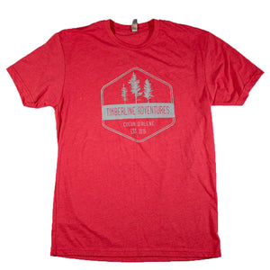 Treeline Hex T-Shirt - Red
