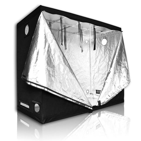 "LAGarden™ 96"" x 48"" x 78"" 100% Reflective Mylar Indoor Grow Tent Hydroponics Plant Room - DojoGrow- Tents & Lights"