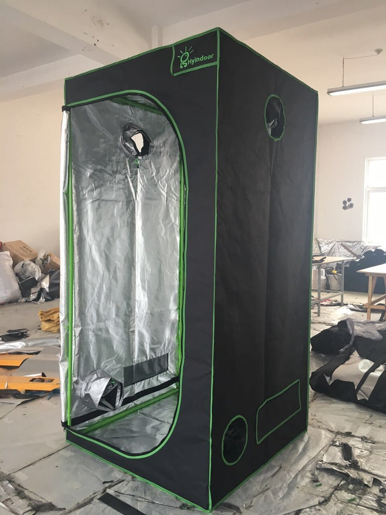 (39 x 39 x 78 Inches) Reflective Mylar Non Toxic Grow Tent Room Shed - DojoGrow- Tents & Lights