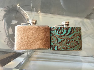 Flask 4oz Leather