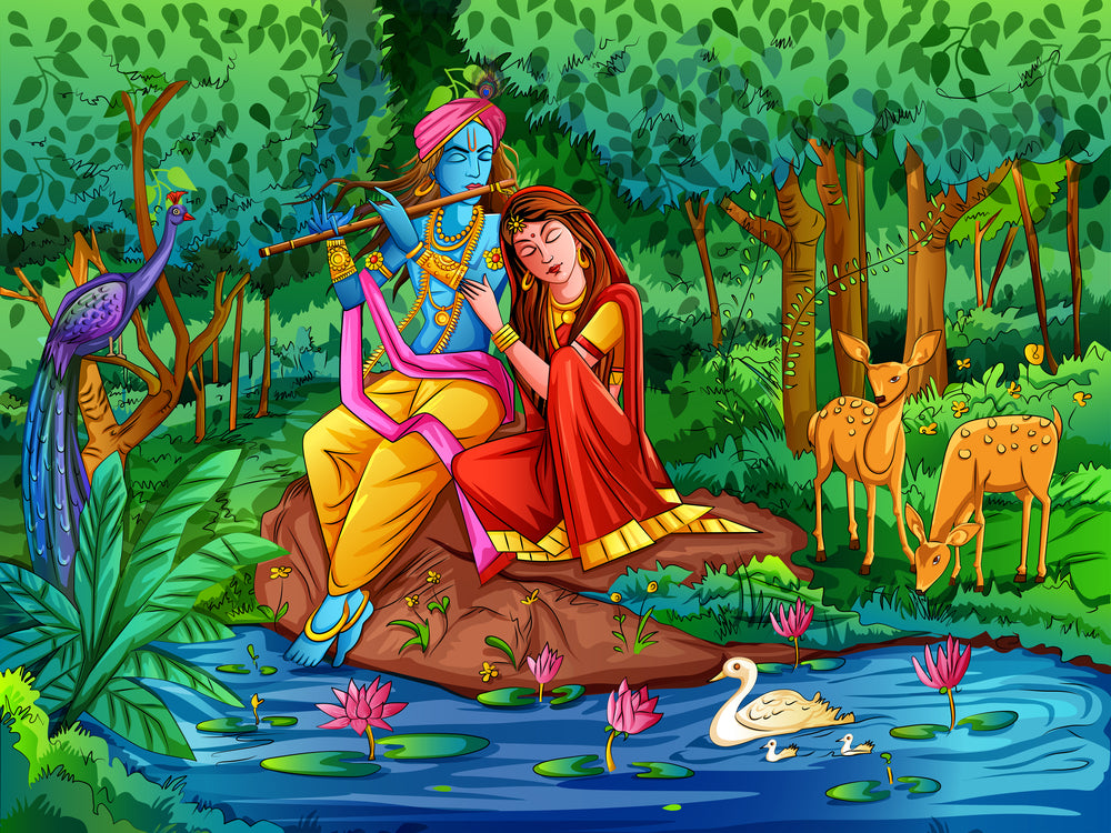 Lord Krishna with Radha