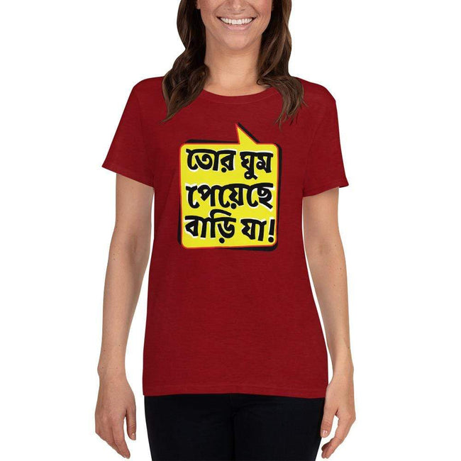 Antique Cherry Red / S Bengali Heavy Cotton Short Sleeve T-Shirt -Bari Ja
