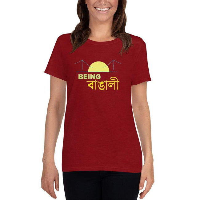 Antique Cherry Red / S Bengali Heavy Cotton Short Sleeve T-Shirt -Being Bangali