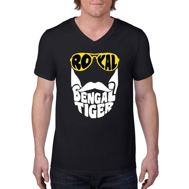 Bengali Unisex Short Sleeve V-Neck Jersey Tee - Royal Bengal Tiger