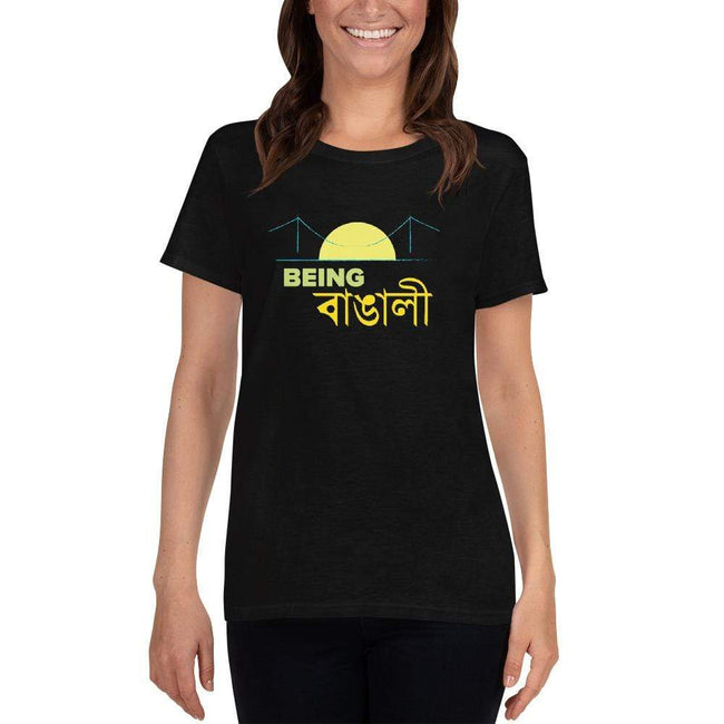 Black / S Bengali Heavy Cotton Short Sleeve T-Shirt -Being Bangali