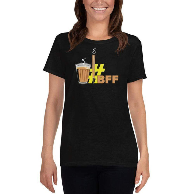 Black / S Bengali Heavy Cotton Short Sleeve T-Shirt -BFF