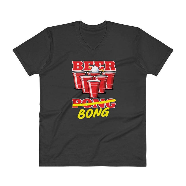 Black / S Bengali Lightweight Fashion V-Neck T-Shirt - Beer Bong