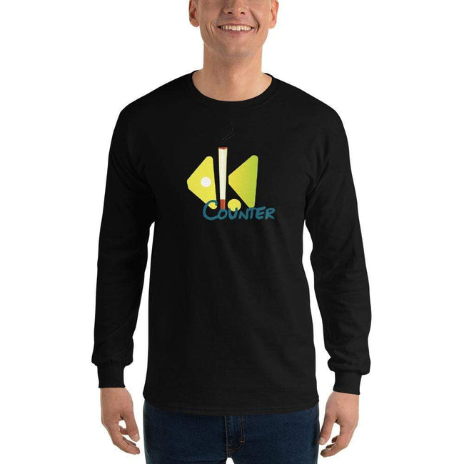 Black / S Bengali Ultra Cotton Long Sleeve T-Shirt - Bar Counter