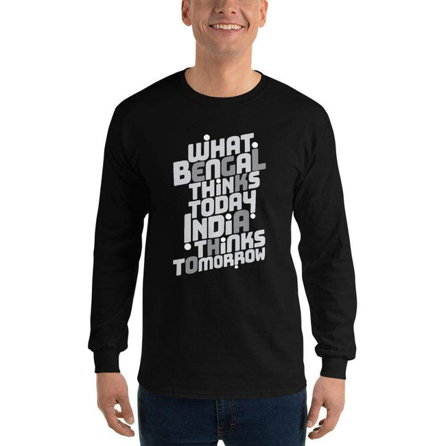 Black / S Bengali Ultra Cotton Long Sleeve T-Shirt -Bengal