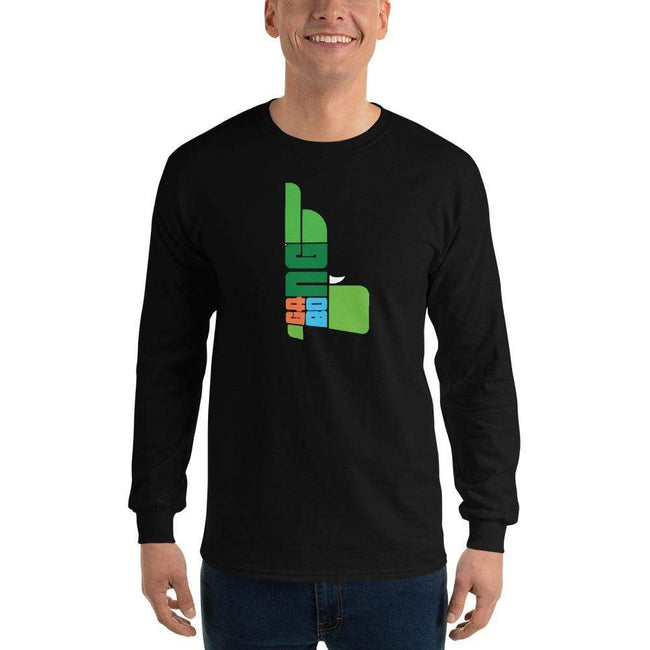 Black / S Bengali Ultra Cotton Long Sleeve T-Shirt - GangBong