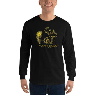 Black / S Bengali Ultra Cotton Long Sleeve T-Shirt - Naru Gopal