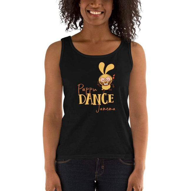 Black / S Bengali Ultra Cotton Tank Top -Pappu Dance Janena