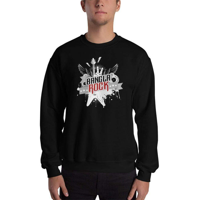 Black / S Bengali Unisex Heavy Blend Crewneck Sweatshirt -Bangla Rock
