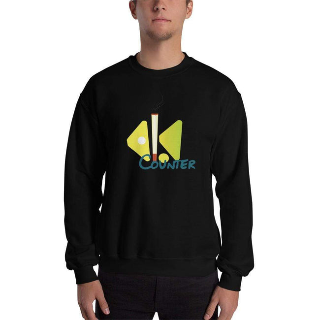 Black / S Bengali Unisex Heavy Blend Crewneck Sweatshirt - Bar Counter