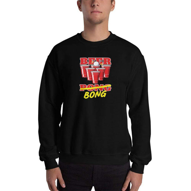 Black / S Bengali Unisex Heavy Blend Crewneck Sweatshirt -Beer Bong