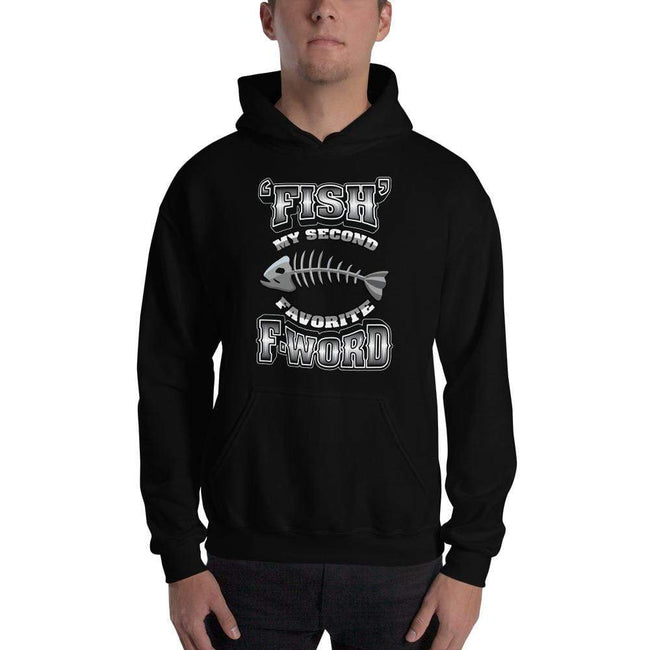 Black / S Bengali Unisex Heavy Blend Hooded Sweatshirt - F for Fish