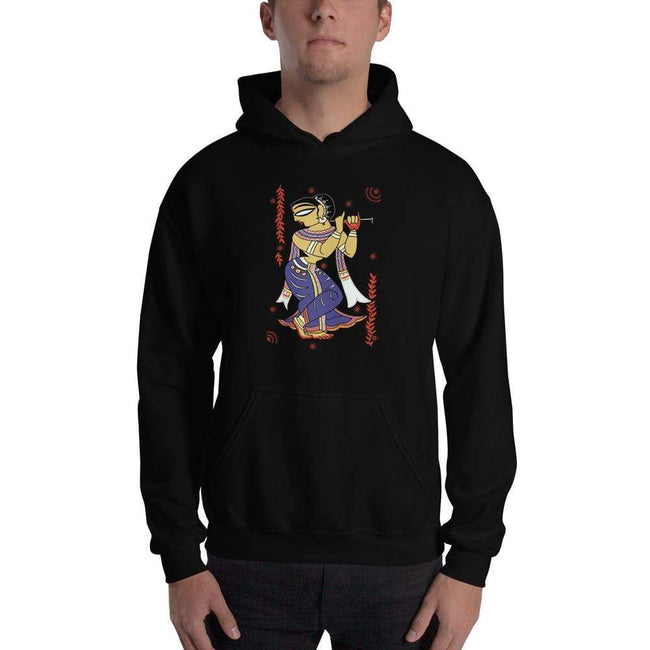 Black / S Bengali Unisex Heavy Blend Hooded Sweatshirt -  Kalankini Radha