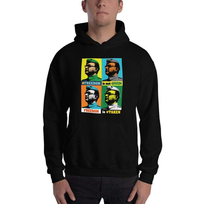 Black / S Bengali Unisex Heavy Blend Hooded Sweatshirt - Netaji