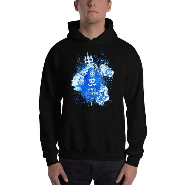 Black / S Bengali Unisex Heavy Blend Hooded Sweatshirt - Om Namah Shivay-03