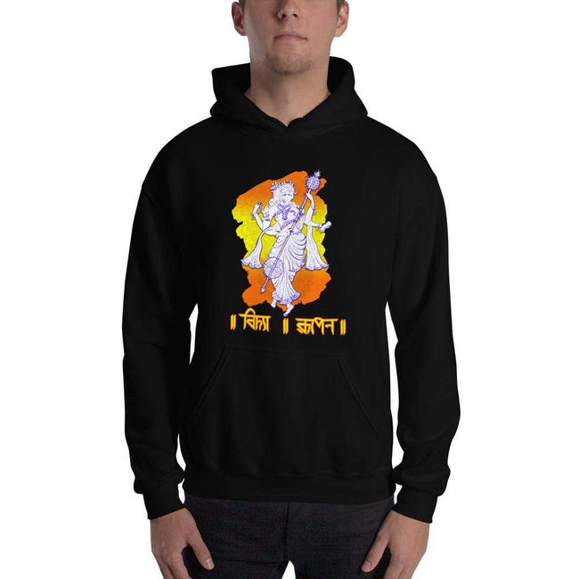 Black / S Bengali Unisex Heavy Blend Hooded Sweatshirt - Vidya Roopeno