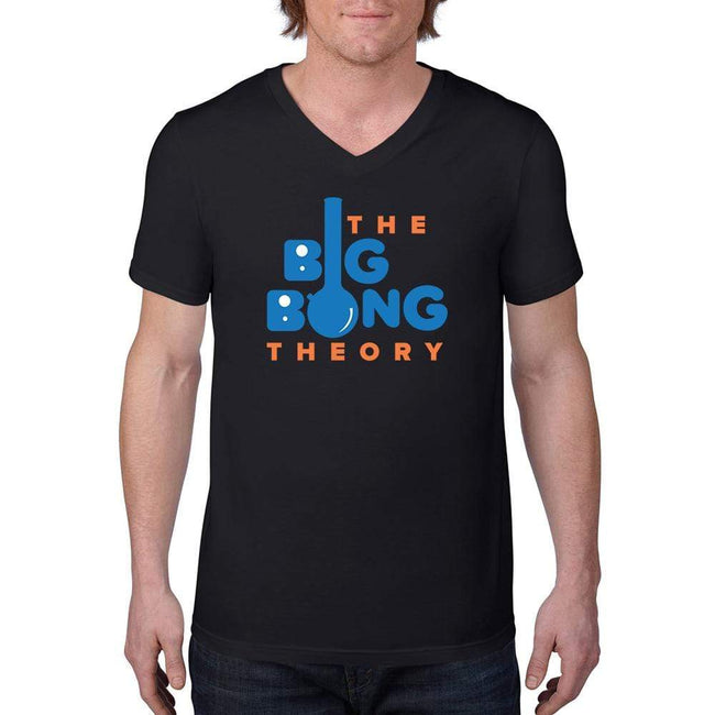 Black / S Bengali Unisex Short Sleeve V-Neck Jersey Tee - The Big Bong Theory