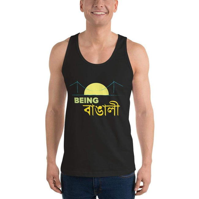 Black / XS Bengali Fine Jersey Tank Top Unisex - Being Bangali