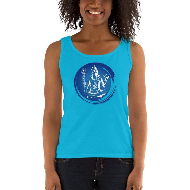 Caribbean Blue / S Bengali Ultra Cotton Tank Top - Om
