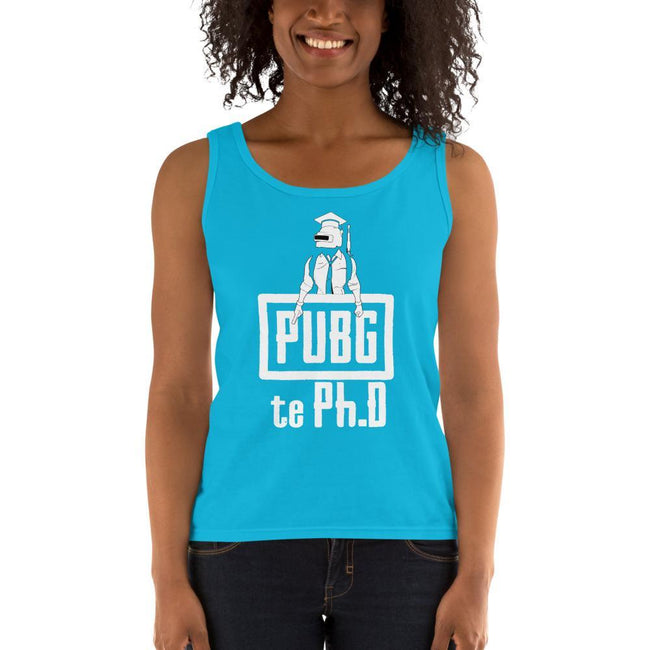 Caribbean Blue / S Bengali Ultra Cotton Tank Top - PUBG Te PHD