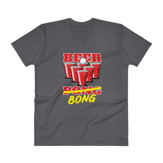 Charcoal / S Bengali Lightweight Fashion V-Neck T-Shirt - Beer Bong