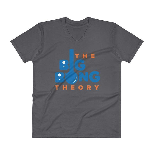 Charcoal / S Bengali Unisex Short Sleeve V-Neck Jersey Tee - The Big Bong Theory