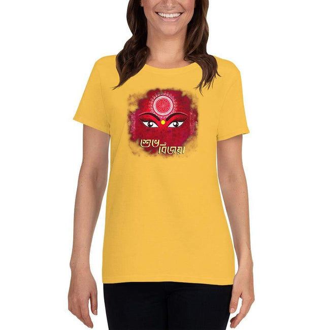 Daisy / S Bengali Heavy Cotton Short Sleeve T-Shirt -Subho Bijoya