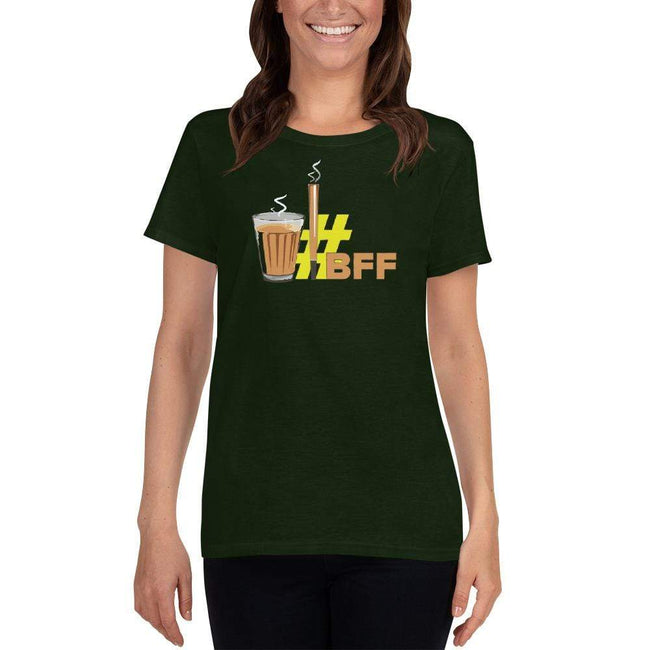 Forest Green / S Bengali Heavy Cotton Short Sleeve T-Shirt -BFF